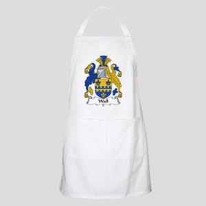 Wall Family Crest BBQ Apron