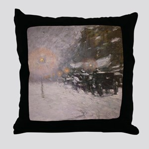 Winter, Midnight - Childe Hassam Throw Pillow