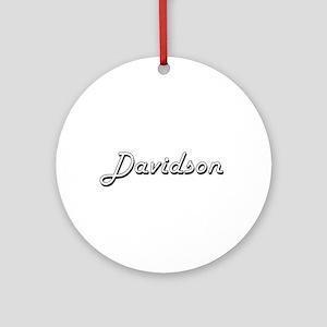 Davidson surname classic design Ornament (Round)