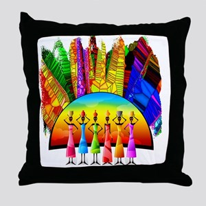African American Women Throw Pillow