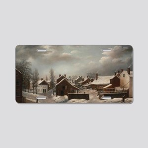 Winter Scene in Brooklyn -  Aluminum License Plate