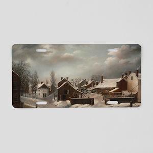Winter Scene in Brooklyn -  Aluminum License Plate