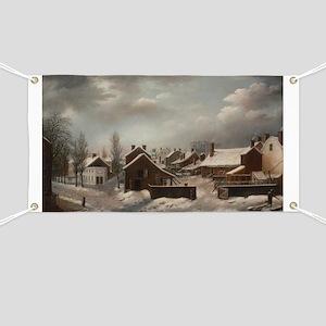 Winter Scene in Brooklyn - Francis Guy Banner