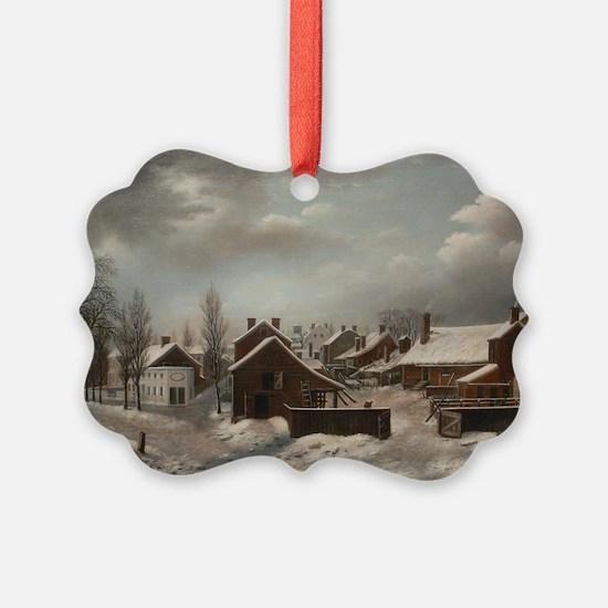 Winter Scene in Brooklyn - Franci Ornament