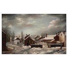 Winter Scene in Brooklyn - Francis Guy Poster
