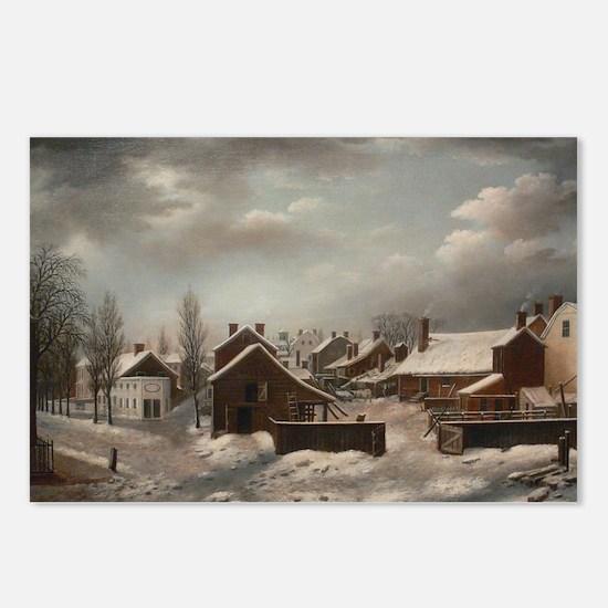 Winter Scene in Brooklyn  Postcards (Package of 8)