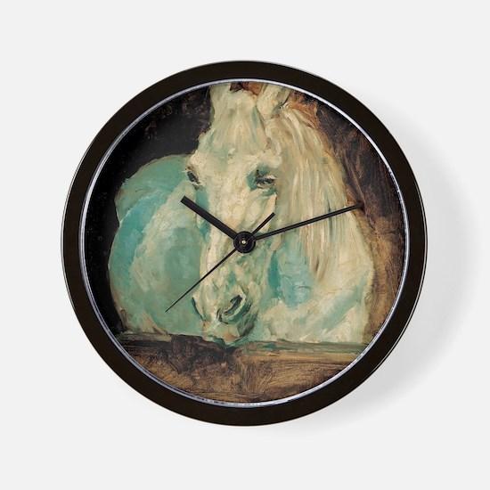 The White Horse Gazelle - Henri Toulous Wall Clock