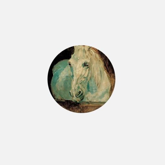 The White Horse Gazelle - Henri Toulou Mini Button