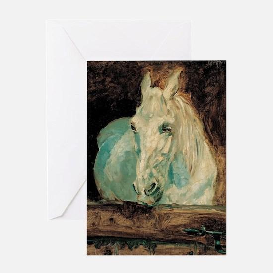 The White Horse Gazelle - Henri Toul Greeting Card