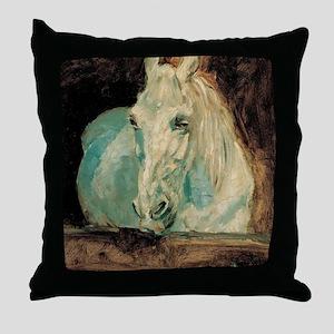 The White Horse Gazelle - Henri Toulo Throw Pillow