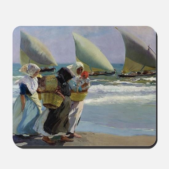 The Three Sails - Joaquin Sorolla Mousepad