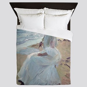 Clotilde on the Beach - Joaquín Soroll Queen Duvet