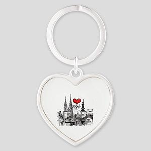 I love zagreb Heart Keychain
