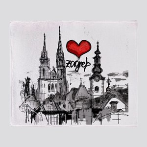 I love zagreb Throw Blanket