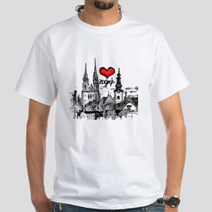 I love zagreb White T-Shirt