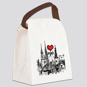I love zagreb Canvas Lunch Bag