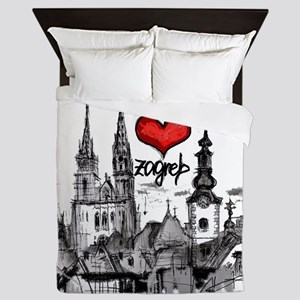 I love zagreb Queen Duvet
