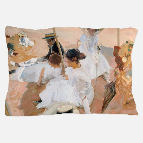 Under The Awning, On The Beach at Zara Pillow Case