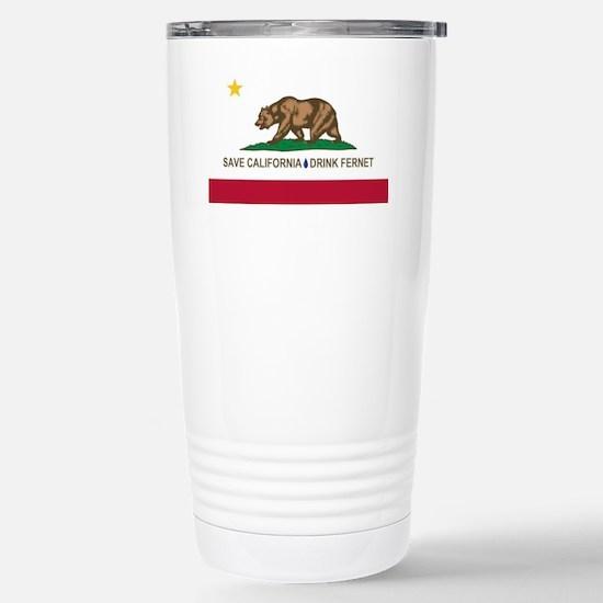 California-Drink Fernet Stainless Steel Travel Mug