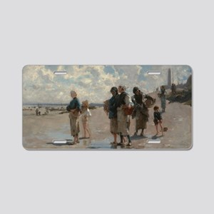 Fishing for Oysters at Canc Aluminum License Plate