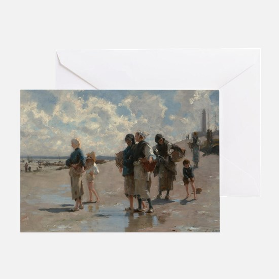 Fishing for Oysters at Cancale - Joh Greeting Card