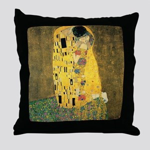 The Kiss - Gustav Klimt Throw Pillow