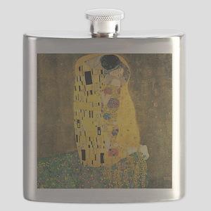 The Kiss - Gustav Klimt Flask
