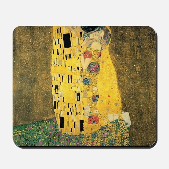 The Kiss - Gustav Klimt Mousepad