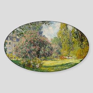 The Parc Monceau - Claude Monet Sticker (Oval)