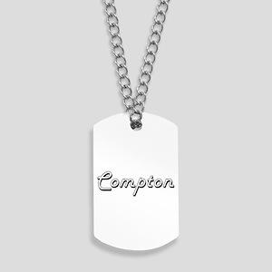 Compton surname classic design Dog Tags