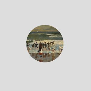 Beach Scene - Winslow Homer Mini Button