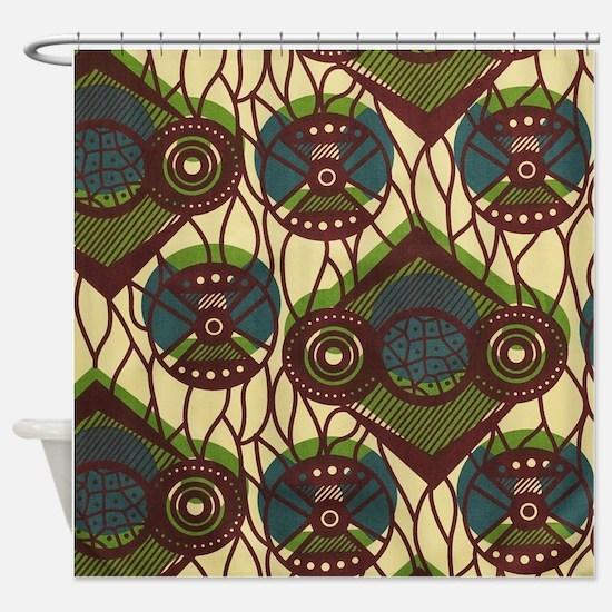 African Print Shower Curtain