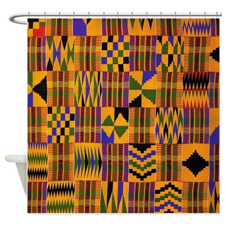 African Print Shower Curtain By Simpleshopping