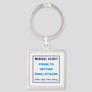 PANIC ATTACKS Square Keychain