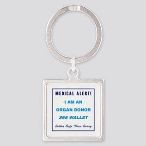 ORGAN DONOR Square Keychain