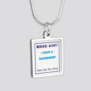 PACEMAKER Silver Square Necklace