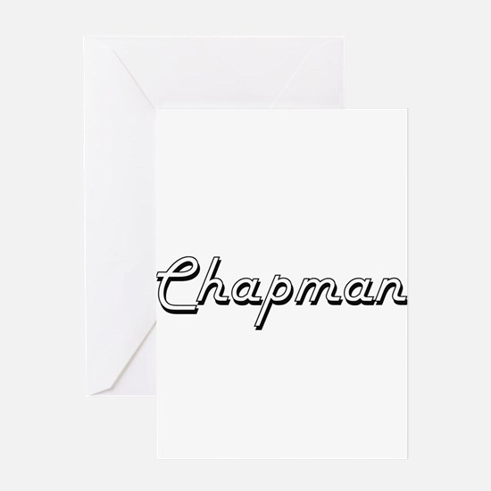 Chapman surname classic design Greeting Cards