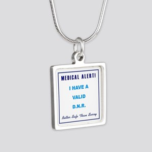 VALID DNR Silver Square Necklace