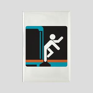 Mind the Gap, subway Madrid (ES) Rectangle Magnet