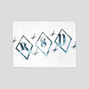 Icy RSD Awareness Diamond Stars 5'x7'Area Rug