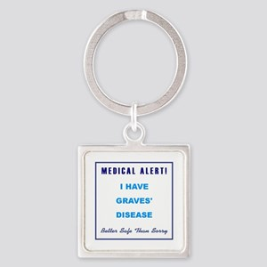 GRAVES' DISEASE Square Keychain