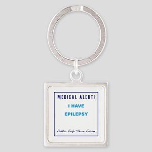 EPILEPSY Square Keychain
