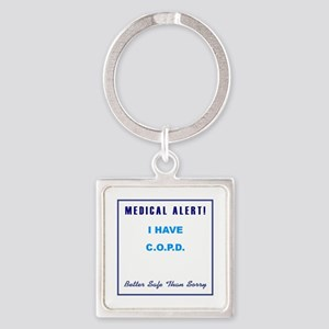 COPD Square Keychain