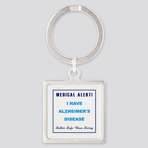 ALZHEIMER'S DISEASE Square Keychain