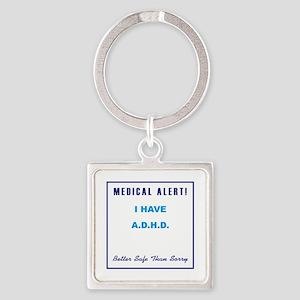 ADHD Square Keychain