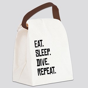 Eat Sleep Dive Repeat Canvas Lunch Bag