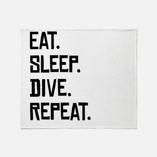 Eat Sleep Dive Repeat Throw Blanket