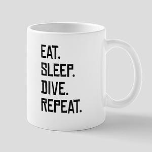 Eat Sleep Dive Repeat Mugs