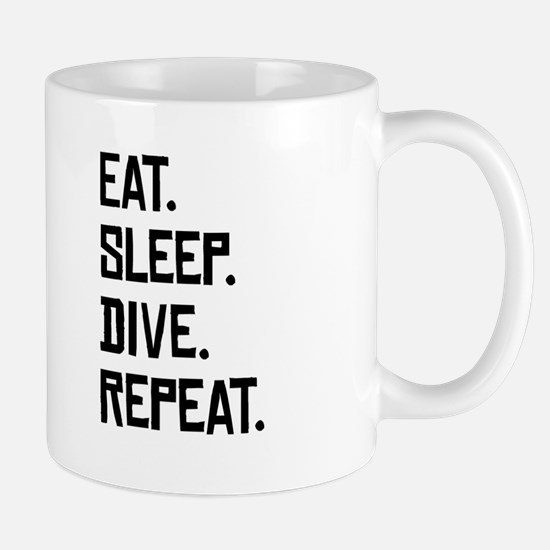 Eat Sleep Dive Repeat Mugs