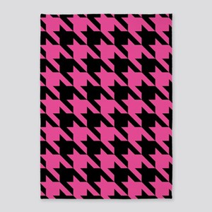 houndstooth-xl-pink_sb 5'x7'Area Rug
